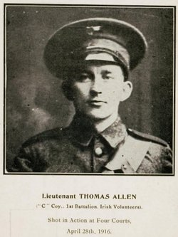 Lt. Thomas Allen, killed in action, Records Office, Four Courts.