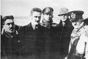 Casement photograph on German submarine with Monteith and Bailey April 1916