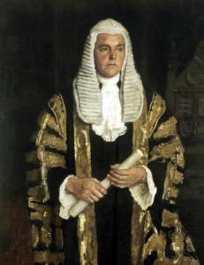 F.E. Smith in robes