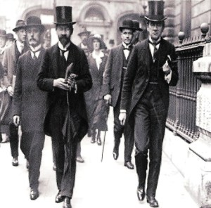 Gavan Duffy arriving at the Royal Courts for the Casement trial